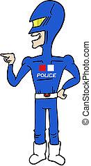 Hero police