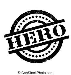 Hero rubber stamp