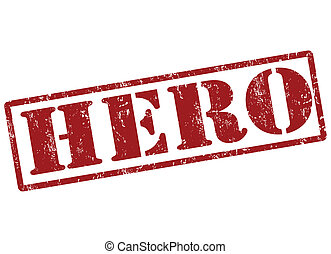 Hero stamp - Hero grunge rubber stamp on white, vector...