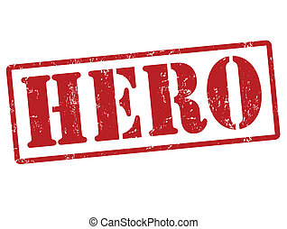 Hero stamp - Hero grunge rubber stamp on white, vector...
