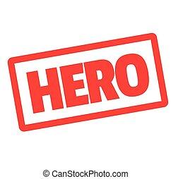 HERO stamp on white