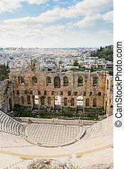 Herodes Atticus amphitheater of Acropolis, Athens