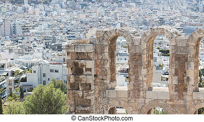 Herodes Atticus theatre in Athens Greece