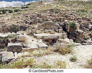 Herodium or Herodion ruins. Judean desert, Israel