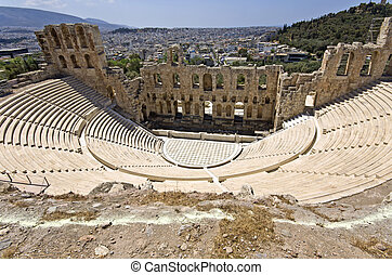Herodus Atticus theater at Athens, Greece