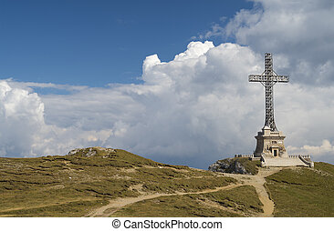 Heroes Cross Monument In Bucegi mountains