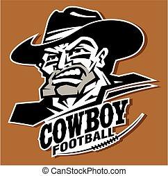 cowboy football - heroic cowboy football mascot player team...