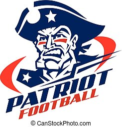 patriot football - heroic patriot football player team...