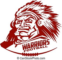 warriors football - heroic warriors football mascot team...