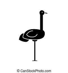 heron icon, vector illustration, sign on isolated background
