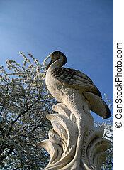 heron in the garden