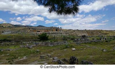 Heropolis near Pamukkale - View of the ruins of Heropolis...