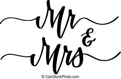 herr, lieb, verlobung , frau, design, hochzeitsgesellschaft, kalligraphie