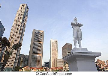 herr, statue, verlosungen, singapur