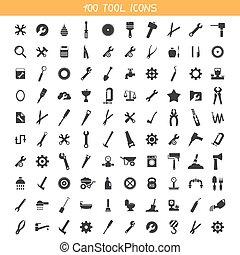 herramienta, colección, iconos