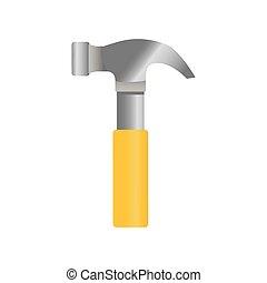 herramienta, construcción, martillo