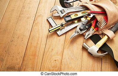 herramienta, herramientas, cinturón