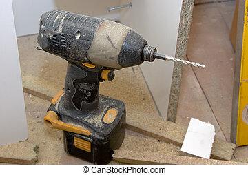 herramienta, -, renovaciones, potencia