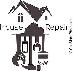 herramienta, reparación casera