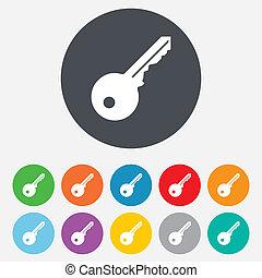 herramienta, símbolo., señal, abrir, llave, icon.