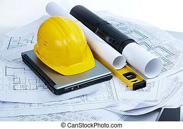 herramientas, arquitectónico