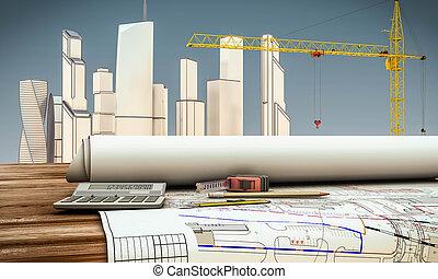 herramientas, arquitecto