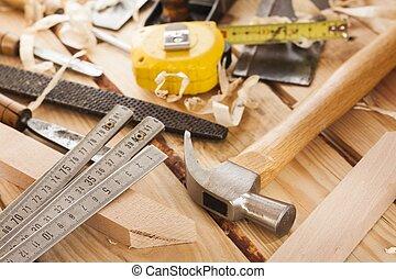herramientas, carpintero