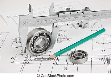 herramientas, detalle, mecanismos