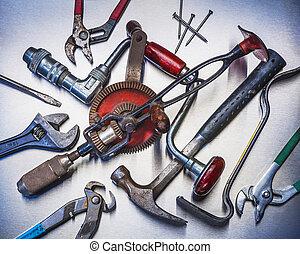 herramientas, mano