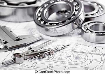 herramientas, mecanismos, detalle