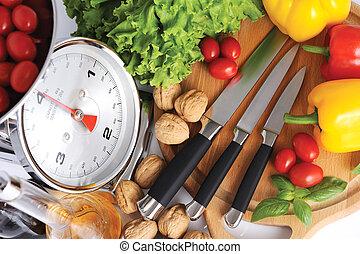 herramientas, para, cocina, italiano, pastas