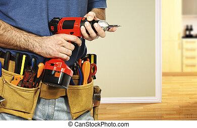 herramientas, para, multa, trabajo