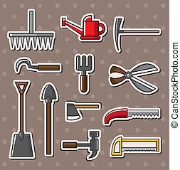 herramientas, pegatinas