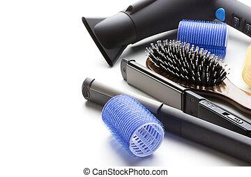 herramientas, peluquero, profesional
