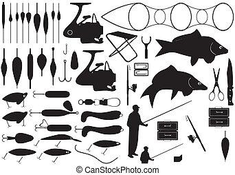 herramientas, pesca