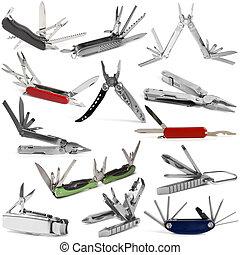 herramientas, selección, vario, multiuso