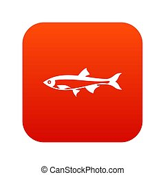 Herring fish icon digital red for any design isolated on...