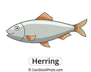 Herring underwater animal cartoon illustration
