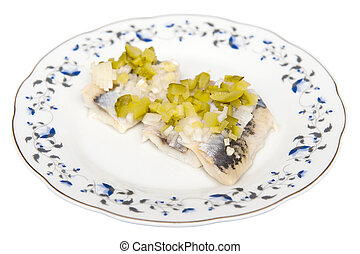 Herring with cucucmber
