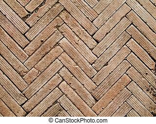 Herringbone pattern brickwall