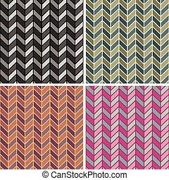 Herringbone Pattern_4 Colorways - Vector seamless...