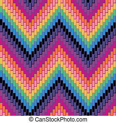 Herringbone Pattern_Multi - Seamless herringbone pattern in...