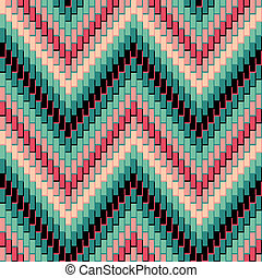 Herringbone Pattern_Pink-Green