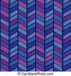 Herringbone seamless background in blue and purple tones