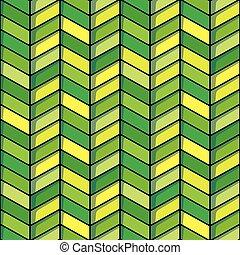 Herringbone seamless background in green and yellow tones