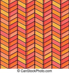 Herringbone seamless background in orange and pink tones