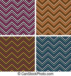 Herringbone Tweed Pattern - Dimensional seamless pattern in...