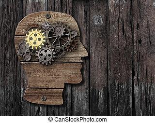 hersenen, activiteit, psychologie, geheugen, concept