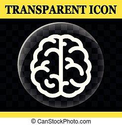 hersenen, cirkel, vector, transparant, pictogram