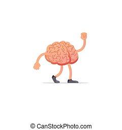 hersenen, concept, verstand, tekening, illustratie